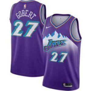 MEN Utah Jazz Rudy Gobert Purple #27 Jersey